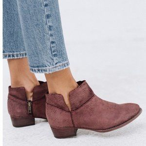 Seychelles Women's Snare Ankle Bootie Burgundy Red